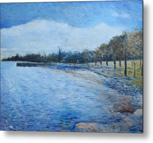Metal Print featuring the painting Missassauga Ontario Canada 2000 by Enver Larney