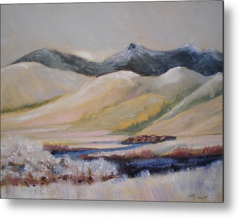 Mountains Metal Print featuring the painting Missouri Switchback by Bryan Alexander