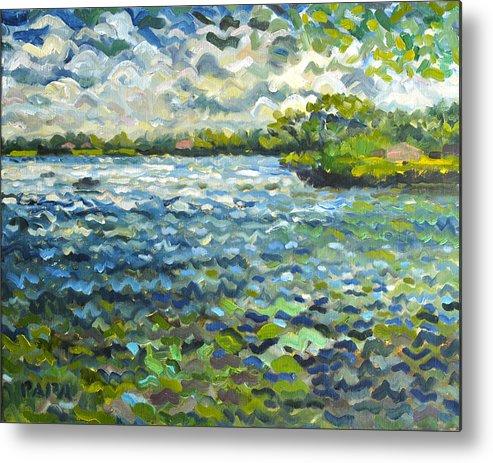 Lake Ida Metal Print featuring the painting Morning Light at lake Ida by Ralph Papa