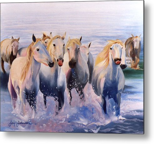 Metal Print featuring the painting Morning Run by Jay Johnson
