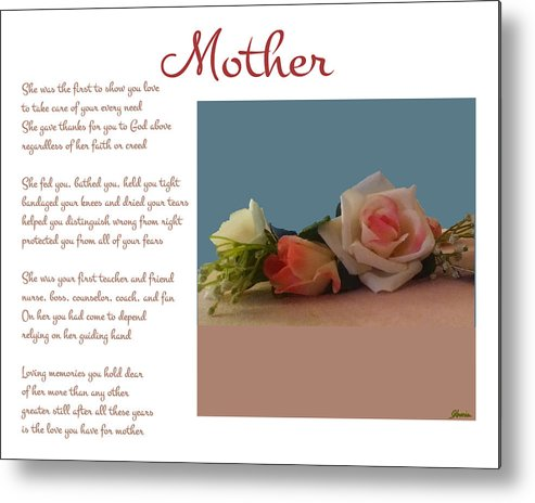 Mother Metal Print featuring the digital art Mother by Pharris Art