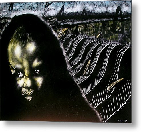 Metal Print featuring the mixed media Mystic Waves by Chester Elmore