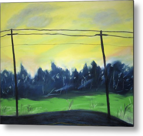 Metal Print featuring the painting Napeague Road by Ingrid Torjesen