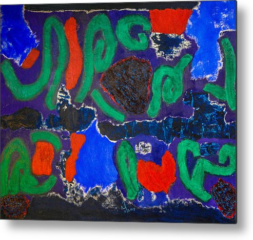 Abstract Metal Print featuring the painting No. 434 by Vijayan Kannampilly