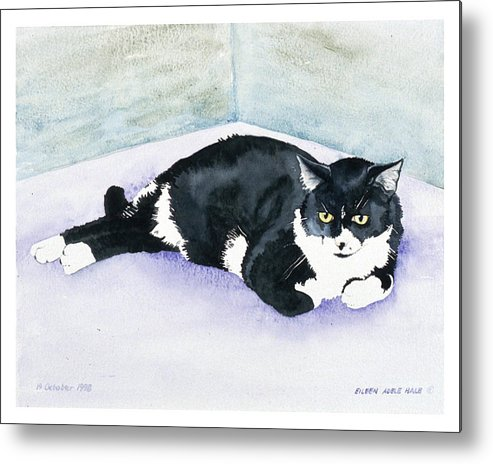 Portrait Metal Print featuring the painting Nubby by Eileen Hale