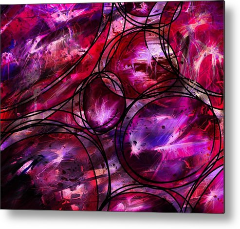 Abstract Metal Print featuring the digital art Other Worlds by William Russell Nowicki