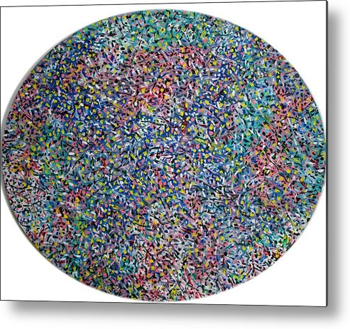 Abstract Metal Print featuring the painting Oval by Biagio Civale