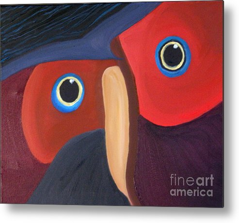 Owl Metal Print featuring the painting Owl - SOLD by Paul Anderson