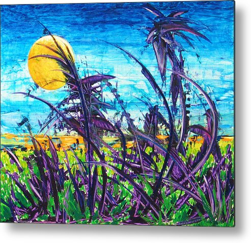 Landscape Metal Print featuring the painting Patch of Field Grass by Rollin Kocsis
