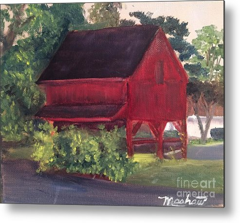 Medford Metal Print featuring the painting Plein Aire 7-12-16 by Sheila Mashaw