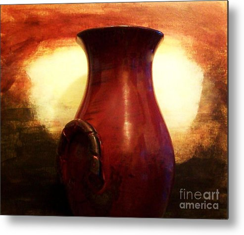 Photo Metal Print featuring the photograph Pottery From Italy by Marsha Heiken