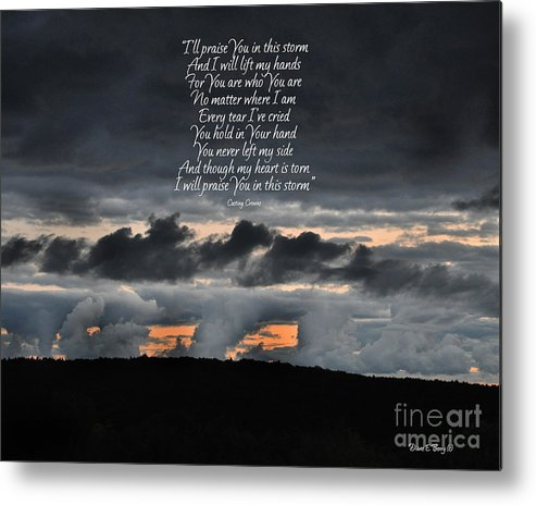 Diane Berry Metal Print featuring the photograph Praise you in the Storm by Diane E Berry
