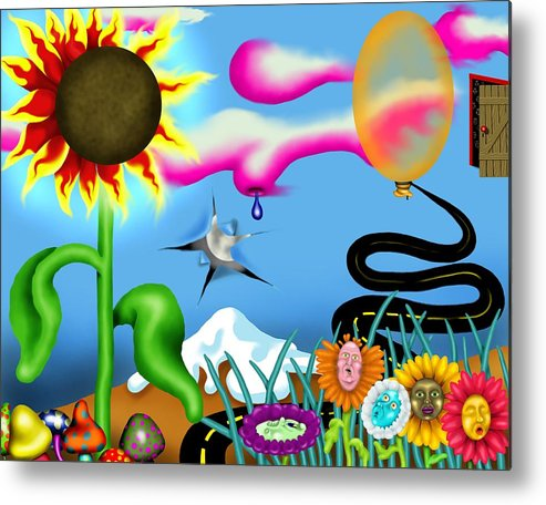 Surrealism Metal Print featuring the digital art Psychedelic Dreamscape I by Robert Morin