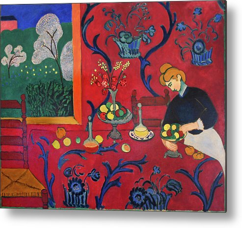 Henri Matisse Metal Print featuring the painting Red Room by Henri Matisse