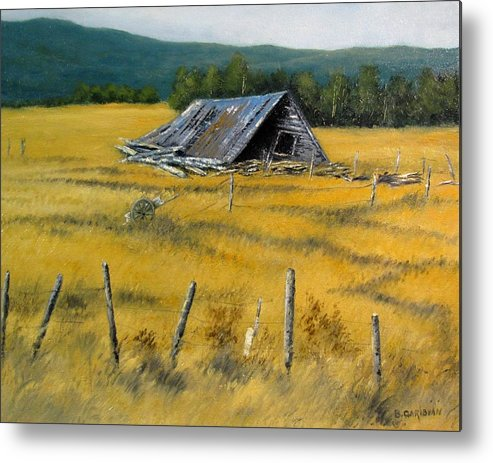Landscape Painting Metal Print featuring the painting Rest in Peace by Boris Garibyan