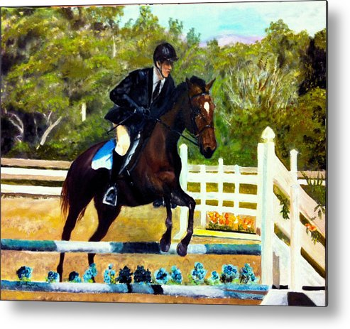 Horse Metal Print featuring the painting Running Free by Beverly Johnson