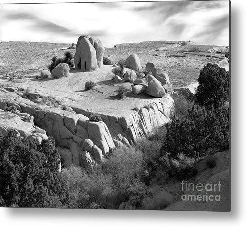 Original Metal Print featuring the photograph Sandstone Plateau by Christian Slanec
