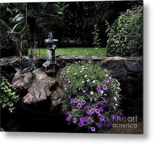 Porch Metal Print featuring the photograph Scotopic Vision 2 - The Porch by Pete Hellmann