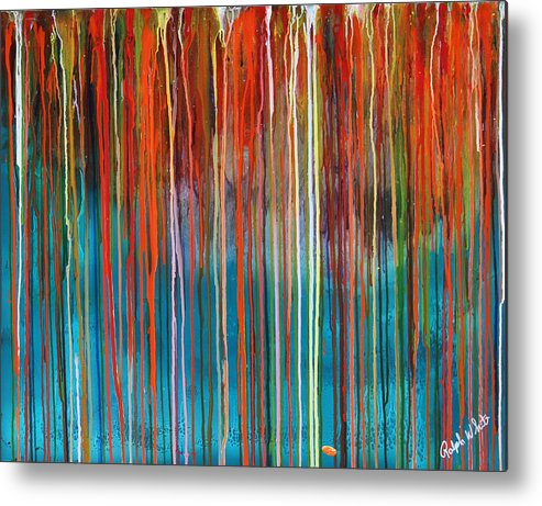 Fusionart Metal Print featuring the painting Seed by Ralph White