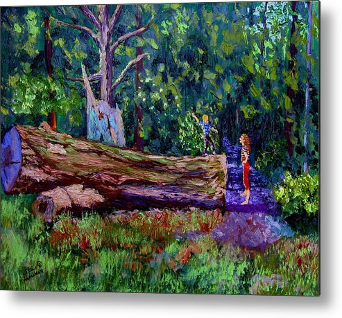 Woods Metal Print featuring the painting Sewp 6 21 by Stan Hamilton