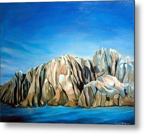 Paysage Metal Print featuring the painting Seychelles by Muriel Dolemieux