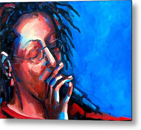 Portrait Metal Print featuring the painting Since I Fell For You by Jackie Merritt