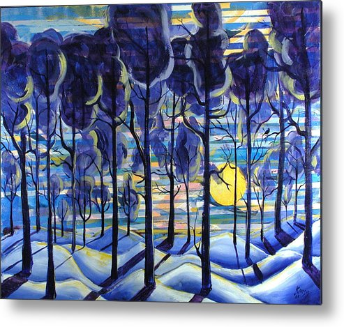 Landscape Metal Print featuring the painting Solitude by Rollin Kocsis