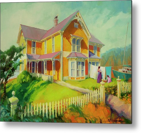 Coast Metal Print featuring the painting Sophie and Rose by Steve Henderson