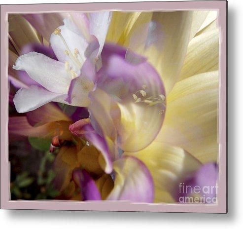 Flower Metal Print featuring the digital art Spring Overture by Chuck Brittenham