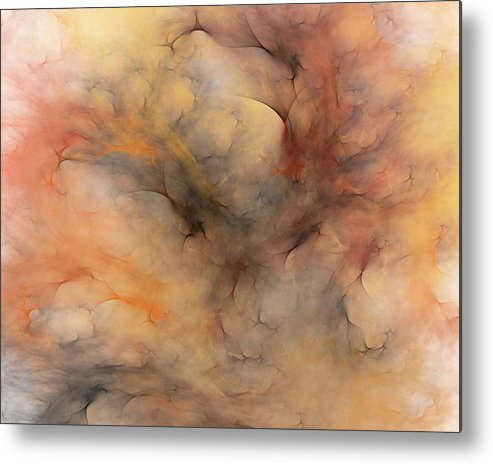 Abstract Metal Print featuring the digital art Stormy by David Lane