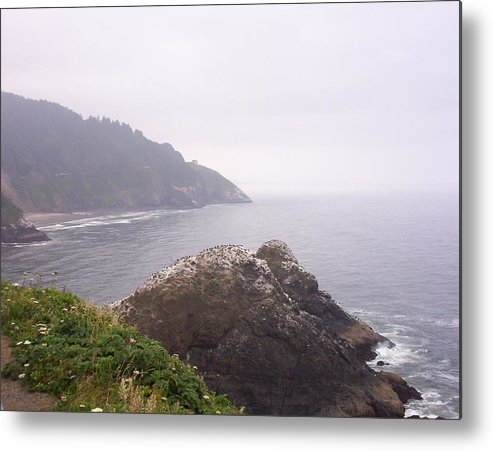 Ocean Metal Print featuring the photograph Stormy day by J Bauer