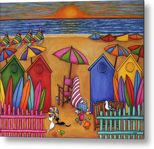 Summer Metal Print featuring the painting Summer Delight by Lisa Lorenz