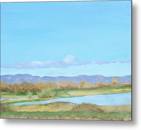 Sky Metal Print featuring the painting Summer Sky by Mary Chant