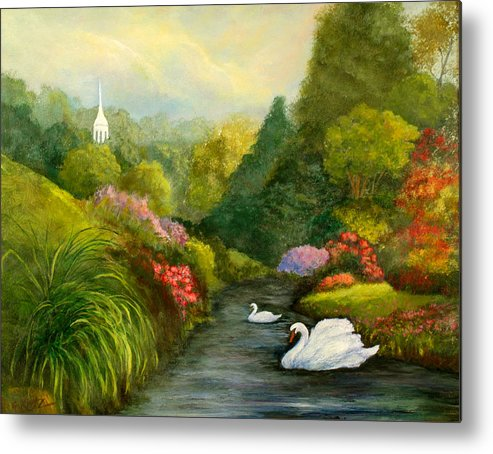 Christian Metal Print featuring the painting Sunday Afternoon by Gail Kirtz