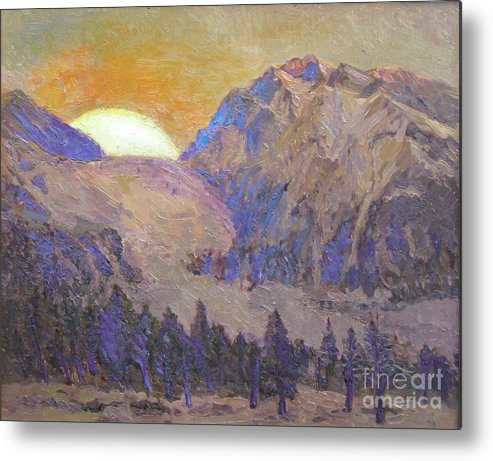 Sunrise Metal Print featuring the painting Sunrise by Meihua Lu