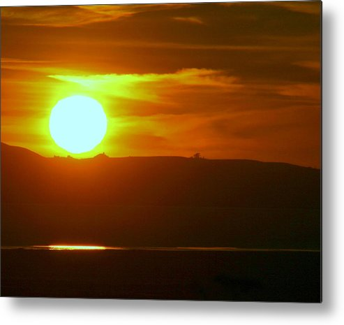 Mount Tamalpais Metal Print featuring the photograph Sunset over Mount Tamalpais by Kerry Reed