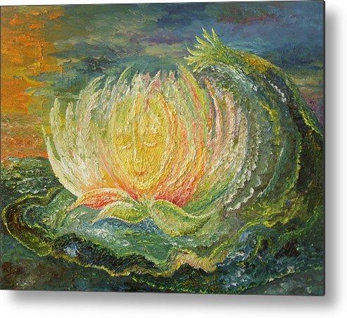 Flower Metal Print featuring the painting Sweet Morning Dream by Karina Ishkhanova