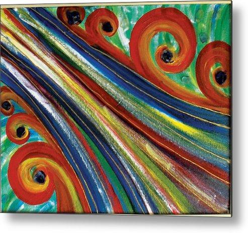 Swirls Metal Print featuring the painting Swirls by Nancy Sisco