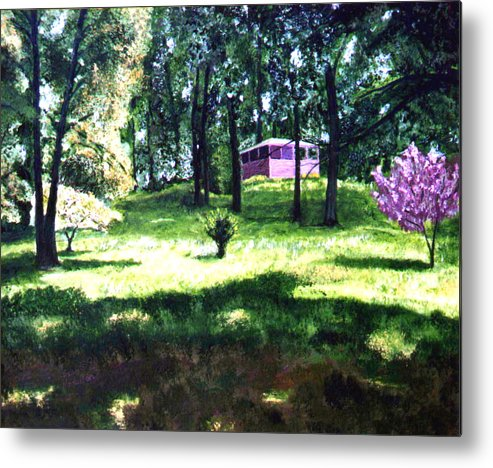 Landscape Metal Print featuring the painting T C Steel by Stan Hamilton