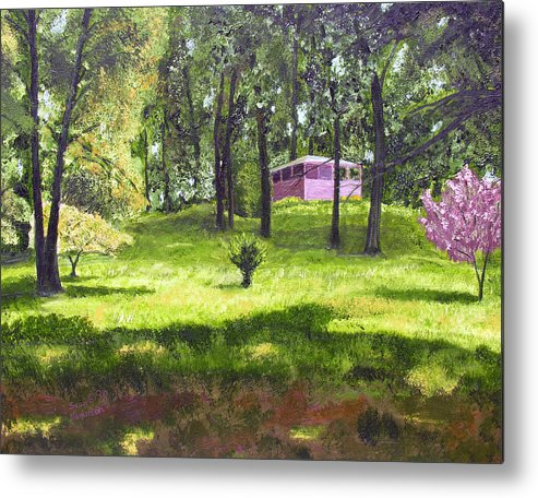 Landscape Metal Print featuring the painting T C Steels by Stan Hamilton