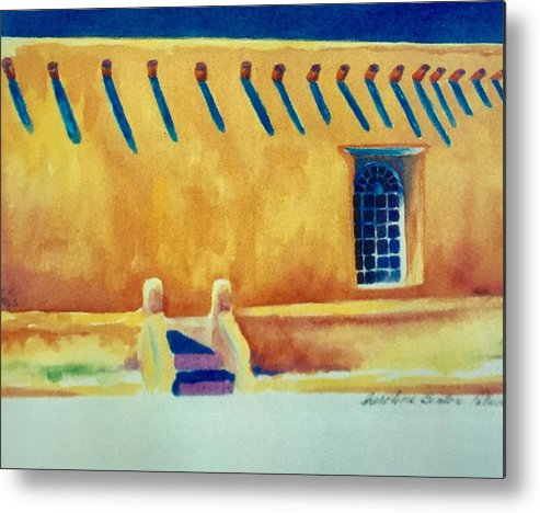 Taos Noon Metal Print featuring the painting Taos Noon by Caroline Patrick