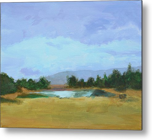Landscape Metal Print featuring the painting The Big Thaw by Mary Chant