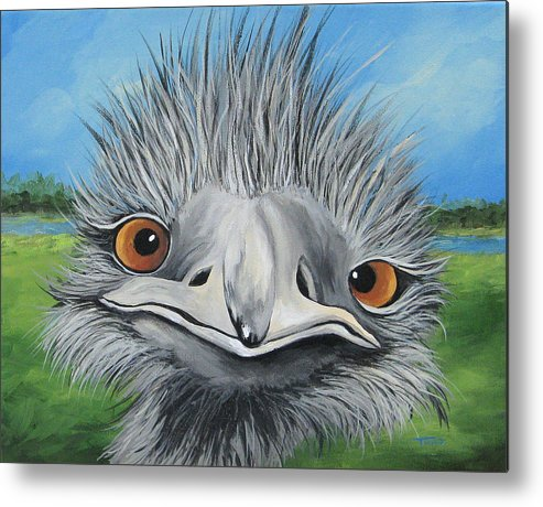 Emu Metal Print featuring the painting The Bird 2011 by Torrie Smiley
