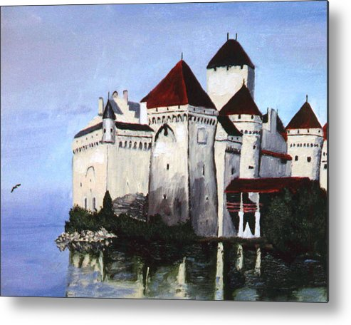 Castle Metal Print featuring the painting The Castle by Stan Hamilton