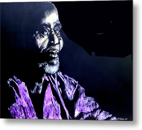 Metal Print featuring the mixed media The Elder by Chester Elmore