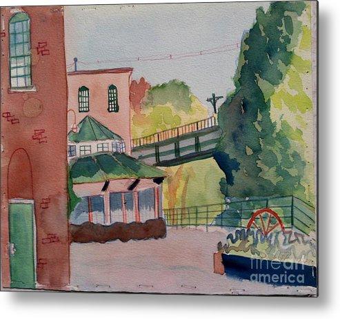 Mills Metal Print featuring the painting The Establishment North Chelmsford by Debra Bretton Robinson