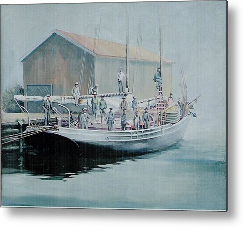 Marine Metal Print featuring the painting The Linus 11 by Barry Smith