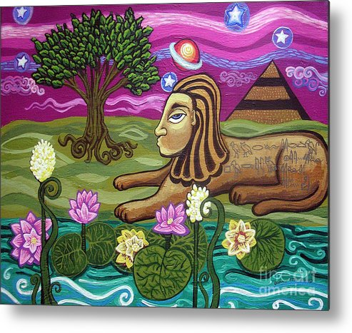 Egypt Metal Print featuring the painting The Sphinx by Genevieve Esson