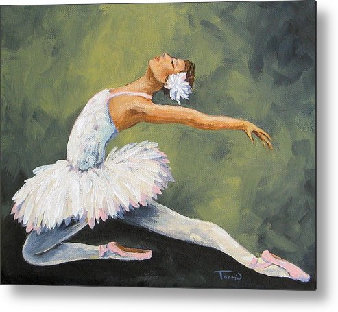 Ballet Metal Print featuring the painting The Swan III by Torrie Smiley