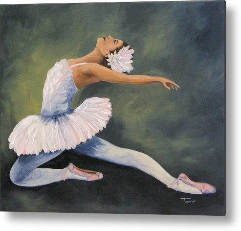 Ballerina Metal Print featuring the painting The Swan IV by Torrie Smiley